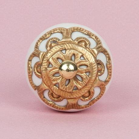 Sternrosette Barock gold