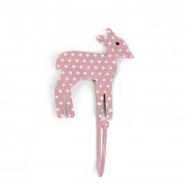 Haken Bambi Punkte rosa