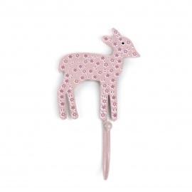 Haken Bambi Blümchen rosa