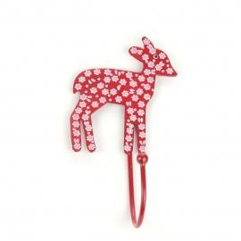 Haken Bambi Blümchen rot