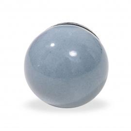 Knauf Ball einfarbig grau
