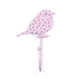 Vogelhaken Blümchen rosa