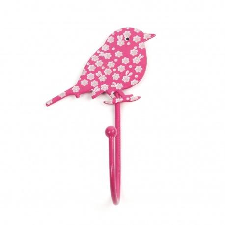 Vogelhaken Blümchen pink