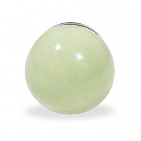 Einfarbiger grüner Möbelknauf in Ballform