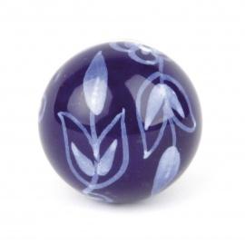 Knauf floral blau/weiß
