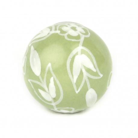 Knauf floral grün/weiß
