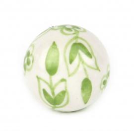 Knauf floral weiß/grün