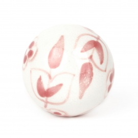 Knauf floral weiß/rosa