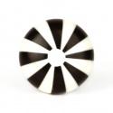 Knauf Bonbon schwarz/weiß