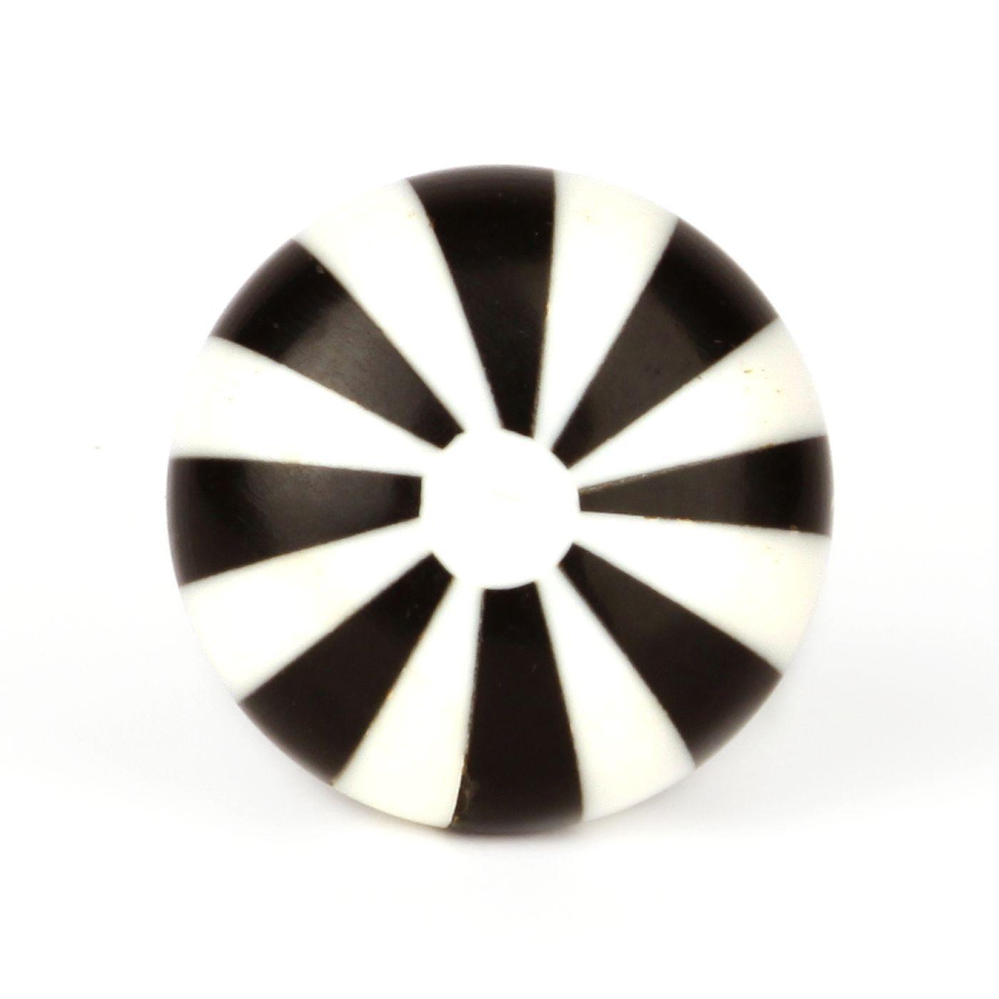 Möbelknauf schwarz//weiß 3320