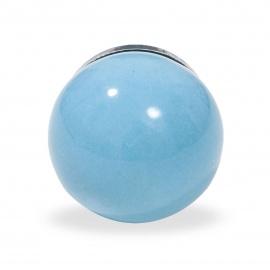 Knauf Ball einfarbig hellblau