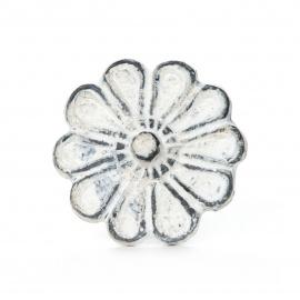 Knauf Eisen Große Blüte Weiß