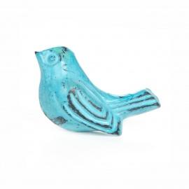Knauf Eisen Vögelchen Blau