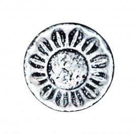 Knauf Eisen Vintage Rund Ornament Weiß