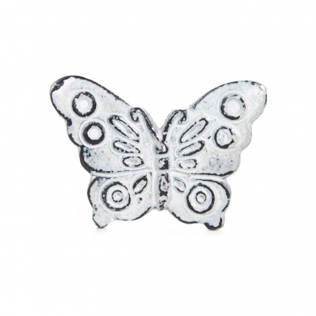 Knauf Eisen Schmetterling grau