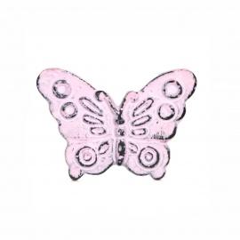 Knauf Eisen Schmetterling Rosa