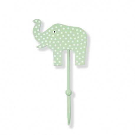 Kinderhaken Elefant Punkte mint