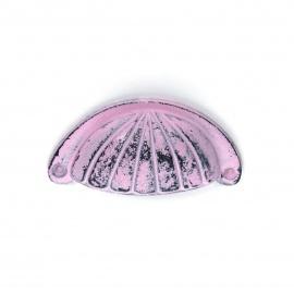 Muschelgriff Eisen Vintage Rosé mit Streifenornament