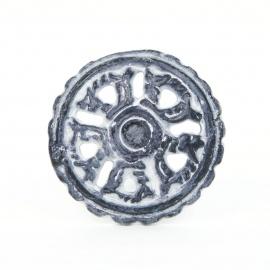 Knauf Eisen Ornamente Grau