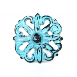 Knauf Eisen Vintage Ornament Blau