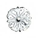 Knauf Eisen Vintage Ornament Weiß