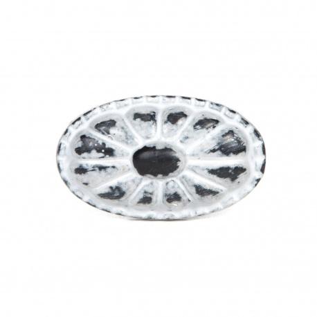 Knauf Eisen Vintage Oval Hellgrau