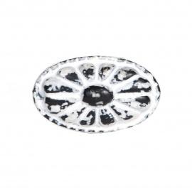 Knauf Eisen Vintage Oval Weiß