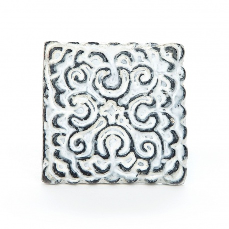 Knauf Eisen Orientalisch Quadratisch Weiß