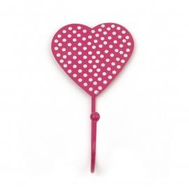 Haken Herz/Punkte pink