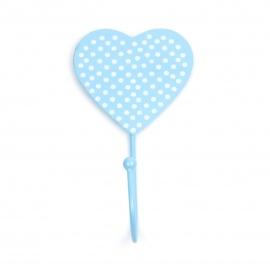 Haken Herz/Punkte hellblau