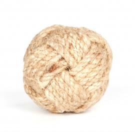 Möbelknauf aus Jute in Form eines Seemannsknoten