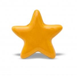 Gelber Möbelknauf in Sternform