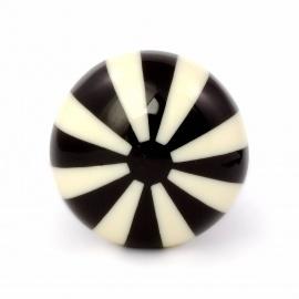 Möbelknauf im Bonbon Look schwarz/cream