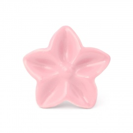 Großer rosa Möbelknauf in Sternblumenform