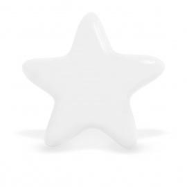 Großer weißer Möbelknauf in Sternform