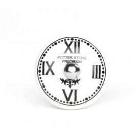 Möbelknauf mit römischer Uhr Print