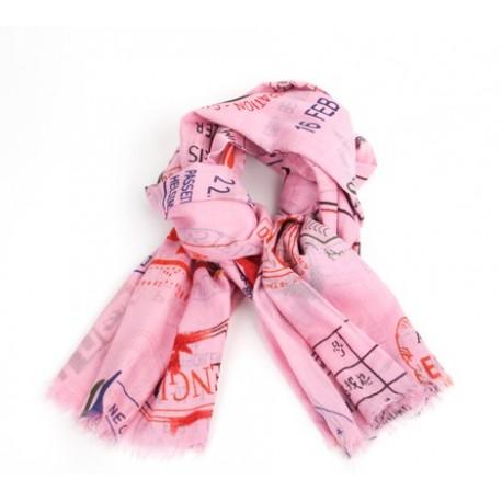 Schal Vintagestempel Pink