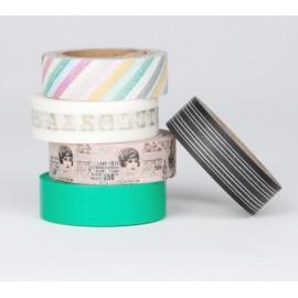 masking tape scrapbooking Reispapier